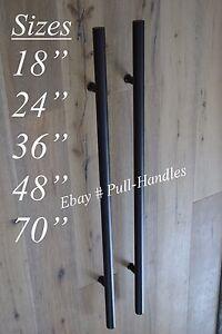 Matte Black Entry Pull Door Handle Stainless Steel Hardware T Bar ...