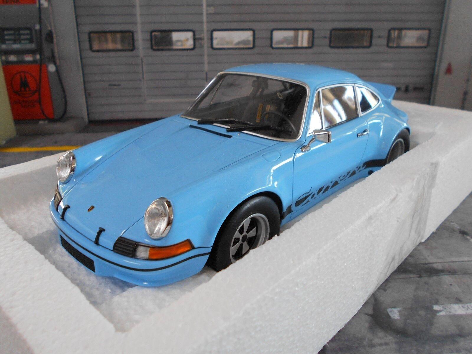 PORSCHE 911 Carrera RSR 2.8 breitbau 2.7 Gulf BLU blu Minichamps Nuovo Nuovo 1:18