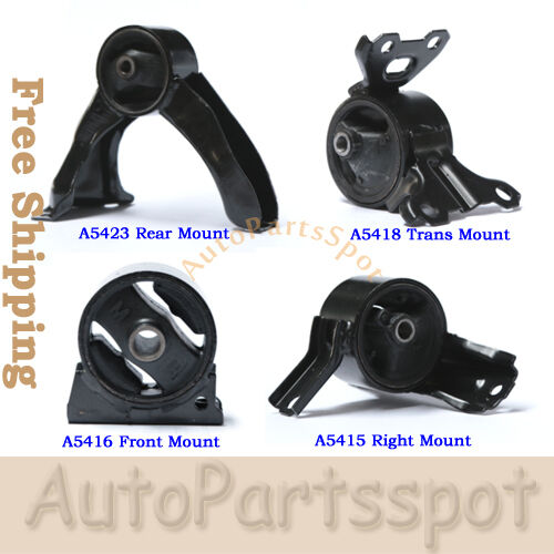 Engine Motor Trans Mount Set 4 For 07-11 Jeep Compass 5416 5423 5415 5418 G158