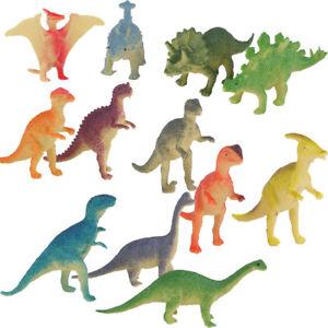 12pcs Dinosaurs Plastic Animal toy Triceratops Brachiosaurus figures Model