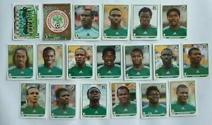 Panini-coupe-du-monde-2010-NIGERIEN-Nigeria-equipe-equipe-COMPLETE-SET-WORLD-CUP-WC-10