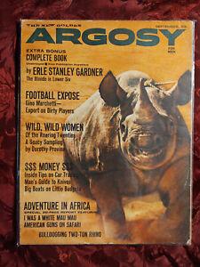 ARGOSY-September-1961-Sept-Sep-61-HATARI-DOROTHY-PROVINE-ERLE-STANLEY-GARDNER