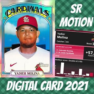 Topps Bunt 21 Yadier Molina Heritage Refractor 2021 Digital Cardinals