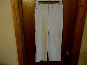Womens-Merona-Stretch-Khaki-Size-4-Dress-Casual-Off-White-Beige-Pants-034-BEAU