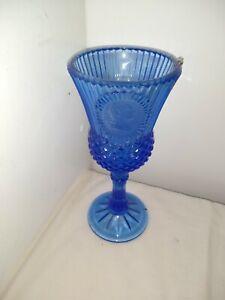Fostoria Avon George Washington Blue water goblet Glass