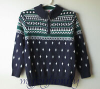 Hanna Andersson And Snow It Goes Swedish Zip Sweater Navy Blue 120 6-7