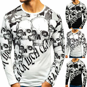 Longsleeve Print Langarmshirt Pullover Sweatshirt Herren