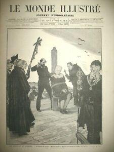 ESPAGNE-EXECUTION-SUPPLICE-GARROT-ITALIE-EPIPHANIE-EGLISE-ARA-COELI-GRAVURE-1879