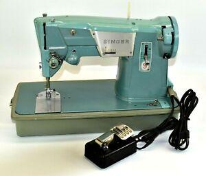 Vintage-Singer-329K-Sewing-Machine-Model-13608M-Foot-Pedal-and-Case-Tested-Works