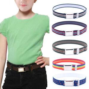 Child-Kids-Adjustable-Waist-Belt-Waistband-Stripe-Magnetic-Belts-Stretch-Elastic