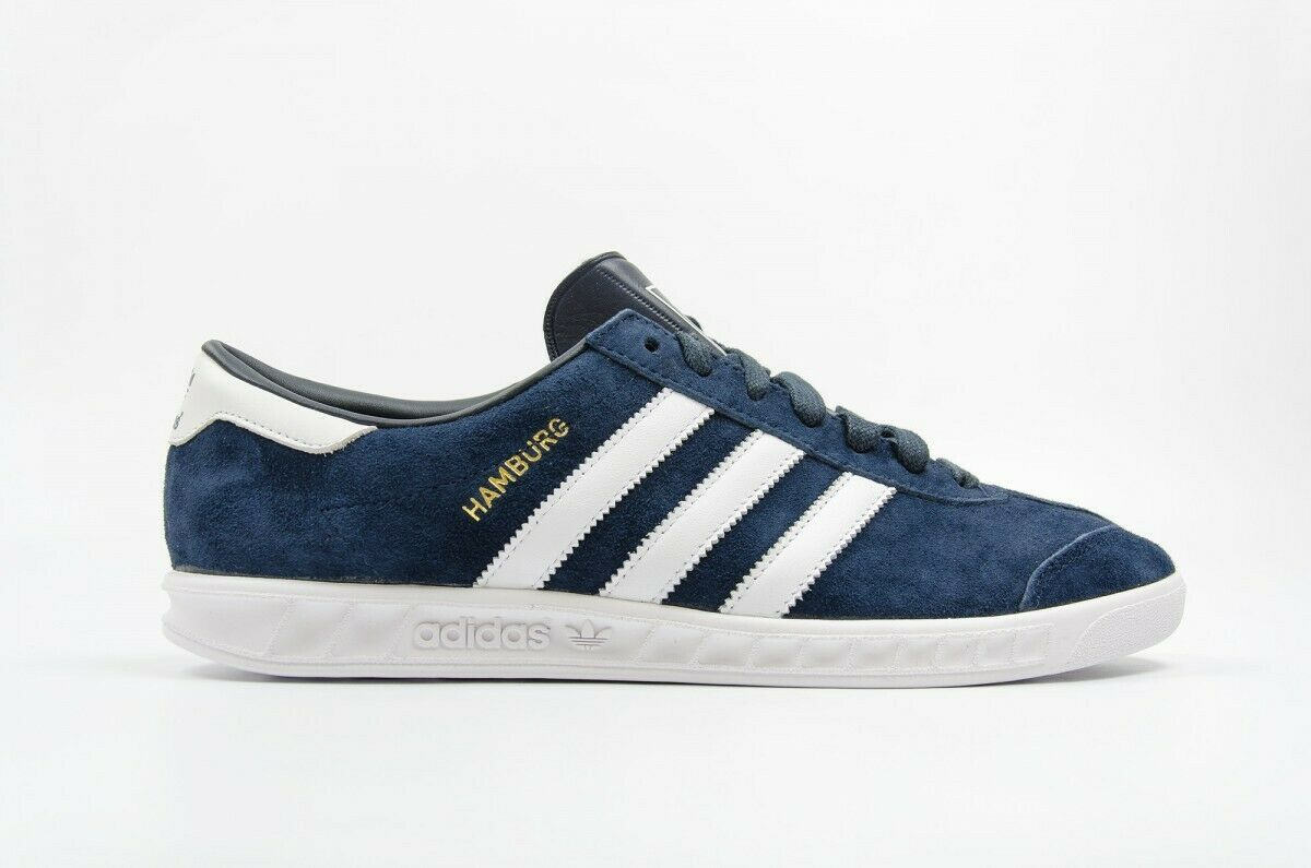 Adidas Originals Hamburg W-Women's Trainers Leather Navy S74838 UK 5 EU 38