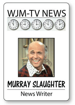 MURRY SLAUGHTER of the MARY Tyler Moore Show Name Badge with magnet Fastener Halloween Costume Cosplay Prop or Themed Party