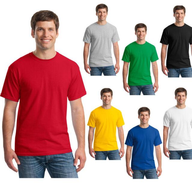 New Mens T-Shirt Crew Neck Blank Basic Plain TEE Short Sleeve Man Cotton Tops