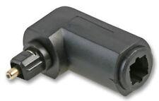 Toslink Adaptador h/m en ángulo recto de 90 ° OO.TT. enlace de fibra óptica Digi de audio Lead Carpintero