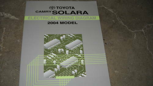 2004 Toyota Camry Solara Electrical Wiring Diagram Service Manual Ewd Factory 04