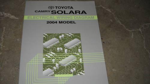 2004 Toyota Camry Solara Electrical Wiring Diagram Service