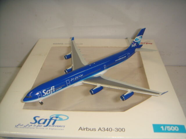 Herpa Wings 500 Safi Airways A340-300  2009s color  1 500 NG CLUB MODEL