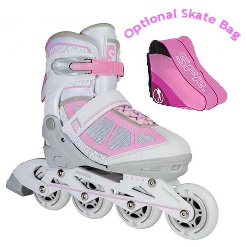 Skatelife Lava Adjustable Inline Roller Skates Kids Adults Rosa/Grau