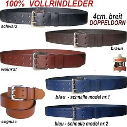 Gürtel , Ledergürtel aus  Vollrindleder,Doppeldorn,85 -120 cm NEU!