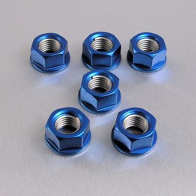 APRILIA RSV1000 MILLE R 2003+ 6 ALUMINIUM SPROCKET NUTS IN BLUE