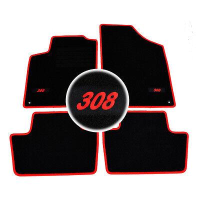 4 TAPIS SOL PEUGEOT 308 3 5 /& SW GTI ACCESS MOQUETTE LOGO ROUGE SPECIFIQUE