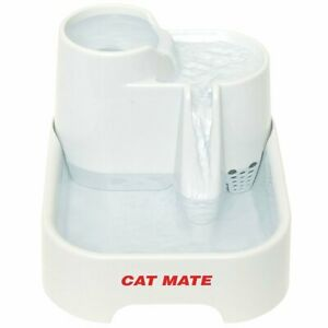 Cat Mate Pet Fountain,70 Fluid Oz. Multi-Height Drinking Stations, Purification