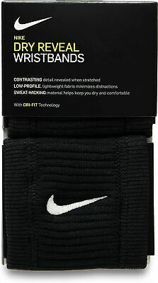 Nike Swoosh Unisex Wristband in Pink and Black Dry Fit technology