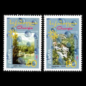 Georgia 2001-europa Timbres-eau, Trésor De La Nature-sc 270/1 Neuf Sans Charnière