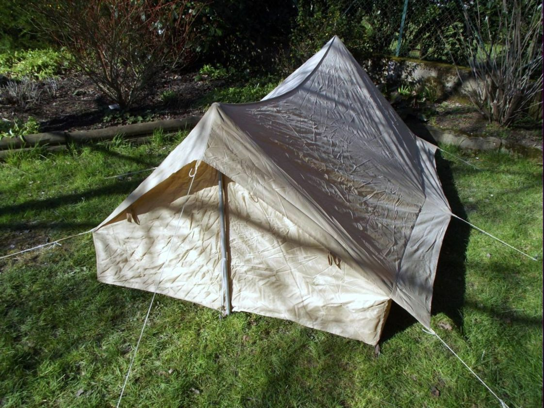 TENTE SABLE 2 PLACES ARMEE FRANCAISE NEUVE TENT SAND 2 PLACES NEW FRENCH ARMY