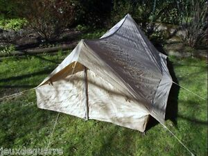 Image is loading 2-seater-sand-tent-armee-francaise-new-tent- & TENTE SABLE 2 PLACES ARMEE FRANCAISE NEUVE TENT SAND 2 PLACES NEW ...