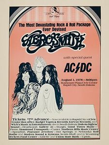 AC-DC-Aerosmith-Rapid-City-16-034-x-12-034-Photo-Repro-Concert-Poster