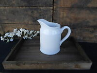 Farmhouse White Ceramic Pitcher Ironstone Pottery Vintage Inspired Fixer Upper