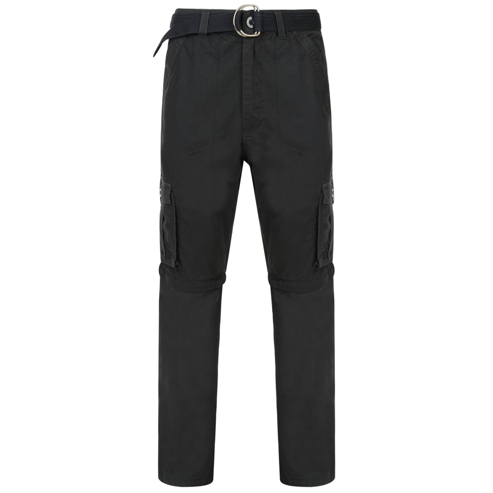 KAM Pure Cotton Zip Off Belted Cargo Trousers Pants From Waist 40 to 60
