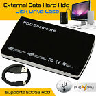 External 2.5'' SATA HDD USB 2.0 Hard Disk Drive Enclosure Aluminum Case Caddy