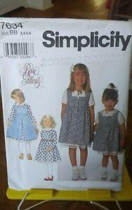 Oop-Simplicity-Rare-Editions-7634-girls-summer-dress-pinafore-sz-3-6-NEW