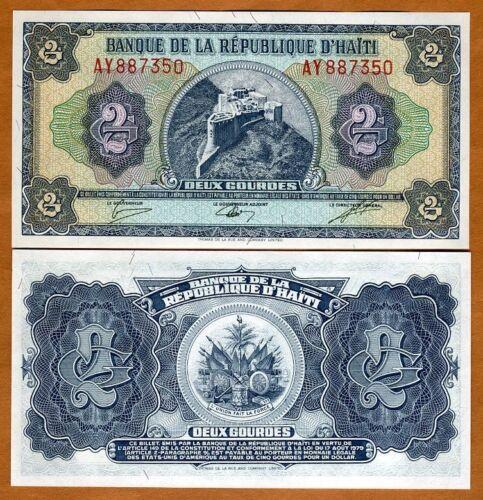 UNC L 1979 Pick 245A 2 Gourdes Haiti