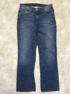 Lucky-Brand-Women-039-s-Blue-Medium-Wash-Rider-Fit-Relaxed-Jeans-Sz-8-Long