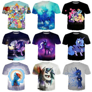Womens//Mens Cartoon My Little Pony 3D Print Casual T-Shirts Tee Short Sleeve