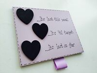 Diet weight loss chalkboard countdown plaque sign personalised lilac hearts mag