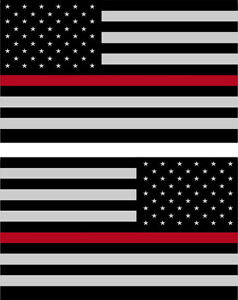 Red Line American Flag >> Details About 5 American Flag 3m Reflective Thin Red Line Stickers X2 Decal Usa Firefighter