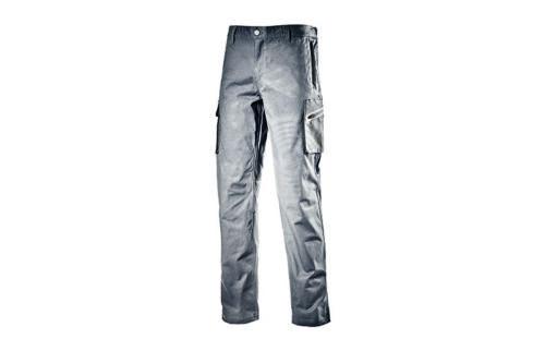 Pantaloni Diadora Utility Cargo Stretch da lavoro uomo grigio multitasche  tg L