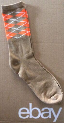 "Women/'s /""Preppy Argyle/"" Crew Socks Size 9-11 Tan"