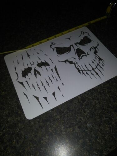 "SKULLS SKULLS SKULL  /""You pick design/"" Airbrush Stencil 1 Layer .....9 different"