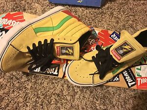 Details about Condition: Used twice  Rare Vans Sk8 Hi collar with Supreme  and Bad Brains