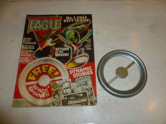 "EAGLE Comic - Issue No 1 - Date 27/03/1982 - Inc ""Space Spinner"" Free Gift"