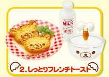 Rement Re-Ment Miniature San-X Rilakkuma Kitchen Breakfast egg RARE SET 2