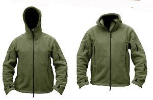 Mens Military Army Combat Recon Hoodie Fleece Hoodies Green Black Zip Jacket New
