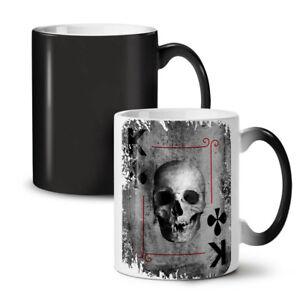 Poker Card Play Skull NEW Colour Changing Tea Coffee Mug 11 oz | Wellcoda