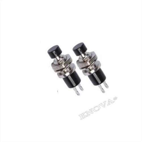 5 Stücke Schwarz Mini Schalter Lockless Momentary Ein Aus-Taster Ic Neu mc
