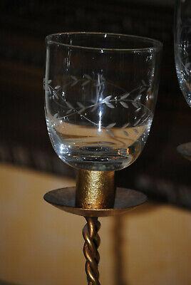 Kerzenglas Glasaufsatz Ornament 7 cm KRÖMER Teelicht Kerzenständer Edel